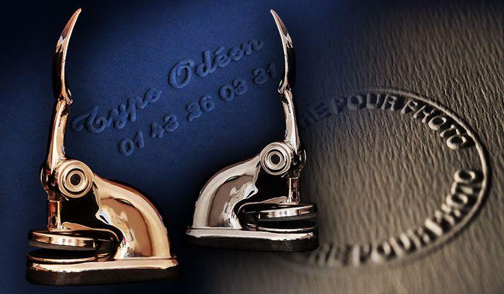 Effet relief obtenu avec pince à timbrer à sec - Imprimerie TYPOdeon #timbre #accessoire