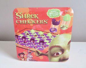 Shrek Checkers in Tin Box 2004