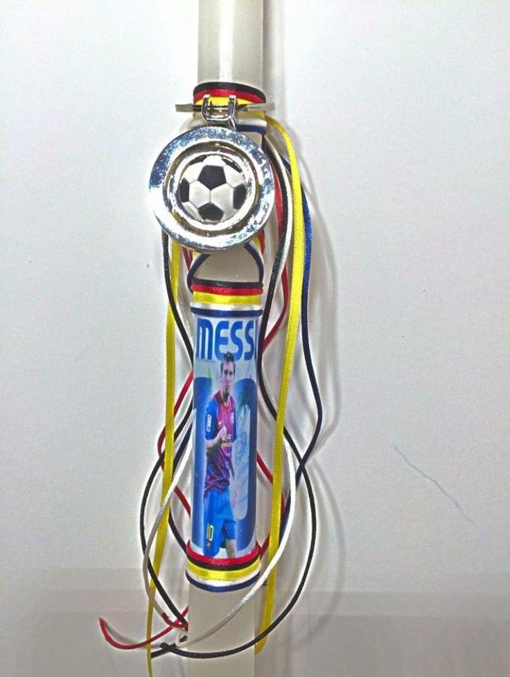 Soccer Easter candles,Barcelona Greece Portugal Messi Ronaldo,Samaras soccer