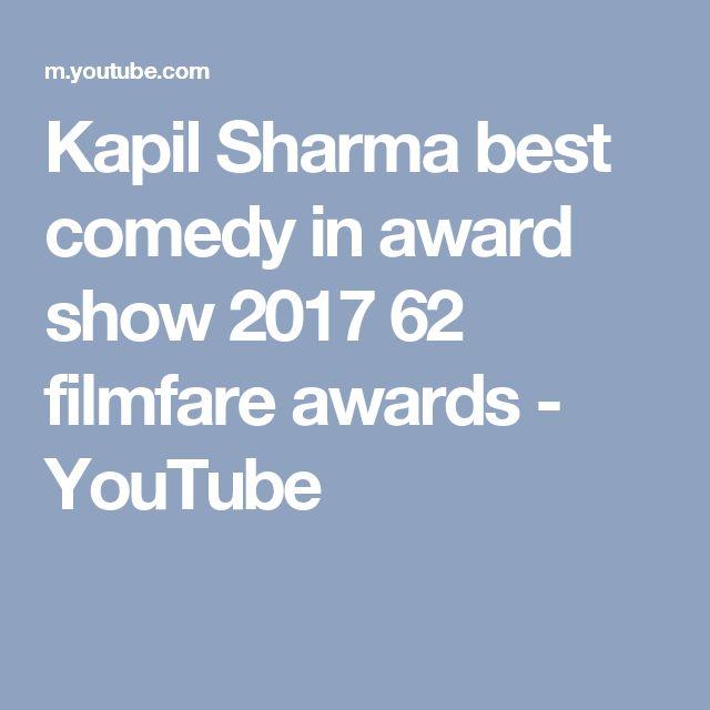 Kapil Sharma best comedy in award show 2017 62 filmfare awards - YouTube