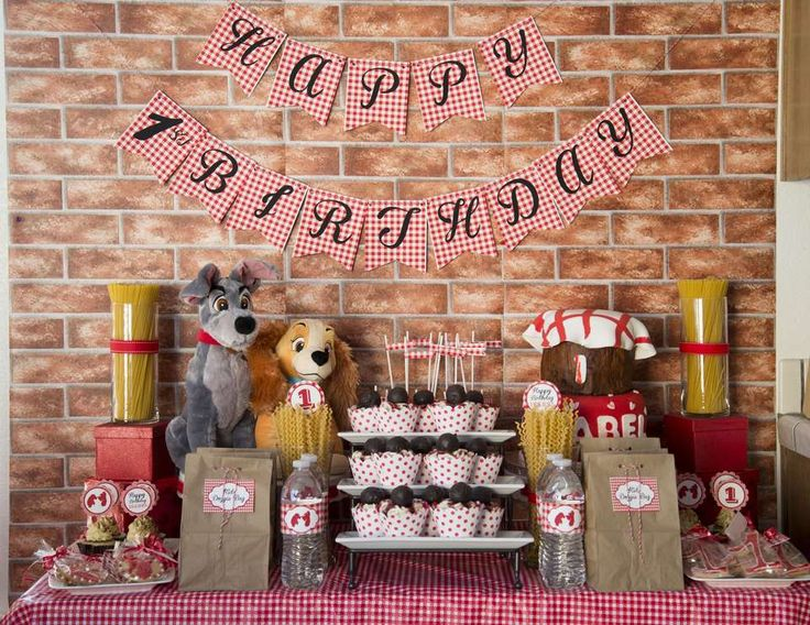 """Lady and the Tramp Inspired / Birthday """"Our Little """"Lady"""" Turns One"""" 