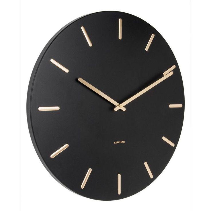 Karlsson Klokken klok Charm (Ø45 cm) , Zwart/goud