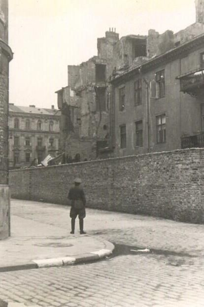 The wall of The Warsaw Ghetto built by the Germans to capture the Jewish population and starve them from 1940-1943