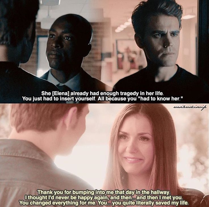 I may not be a Stelena shipper, but I will not deny that Stefan was an important, good part of Elena's life.