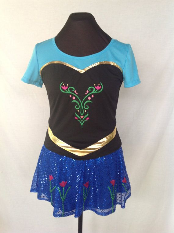 Made to order Anna Inspired complete running outfit with sleeves  Battle the elements in your race to the finish line with this Anna Inspired