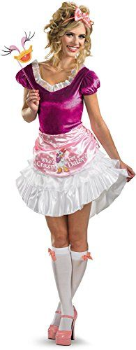 Disguise Unisex Adult Sassy Daisy Duck WhitePinkFuchsia Small 46 Costume