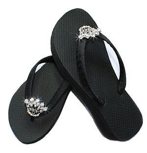 Princess Crown Bling Flip Flops