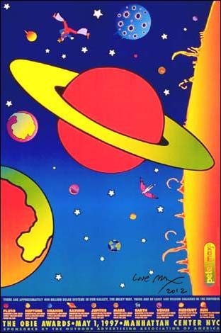 OBIE Awards : - Official Peter Max Site! Gallery Shows, Poster Shop & More! -