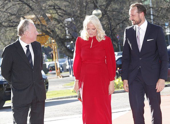On May 05, 2017, Crown Prince Haakon and Crown Princess Mette-Marit of Norway attended opening of the exhibition 'Towards the Forest - Knaugsgård on Munch' at the Munch Museum (Munchmuseet) in Oslo, Norway.