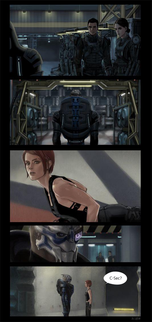 Mass Effect,фэндомы,ME комиксы,ME crossover,ME персонажи,Femshep,Commander Shepard,Garrus,Ashley,Kaidan,грань будущего