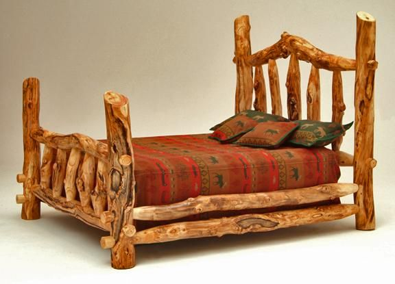 Rustic Bedroom Furniture  Log Bed  Mission Beds  Burl Wood Furnishings  Log  Cabin. 454 best images about Rustic log creations on Pinterest   Log