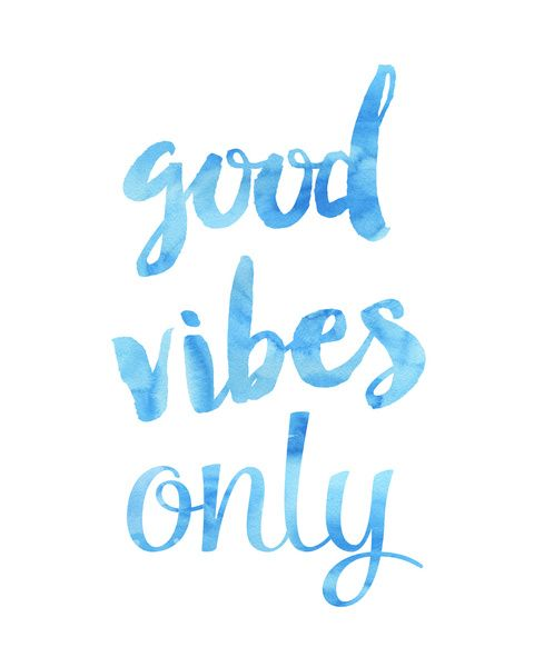 Good Vibes Only Sky Canvas Print