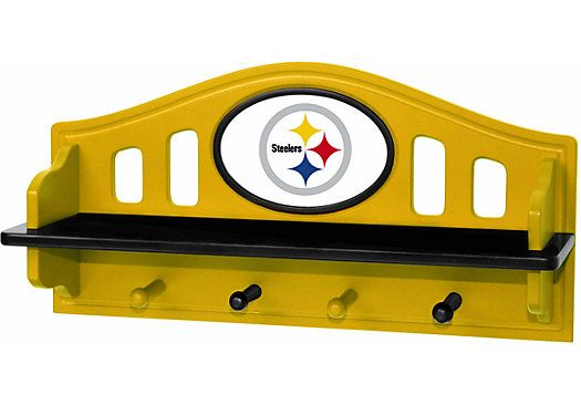 Shop for a NFL Steelers Wall Shelf at Rooms To Go Kids. Find that will look great in your home and complement the rest of your furniture. #iSofa #roomstogo