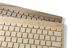 Wooden keyboards. Orée Board by Orée, Stand, K04, Hall T5, Tent London 2013, www.oreedesign.com/