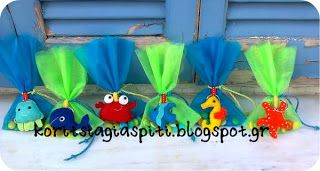 under the sea felt key holders. Great party/baptism favours!
