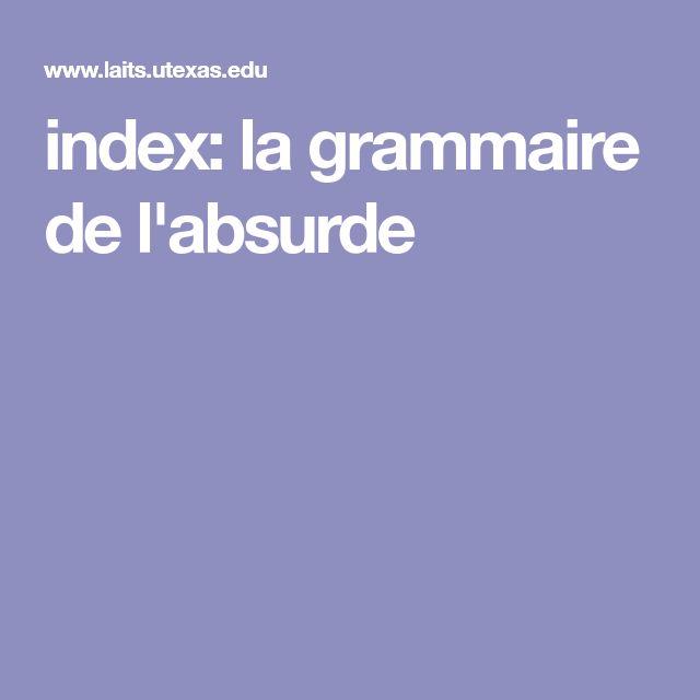 index: la grammaire de l'absurde