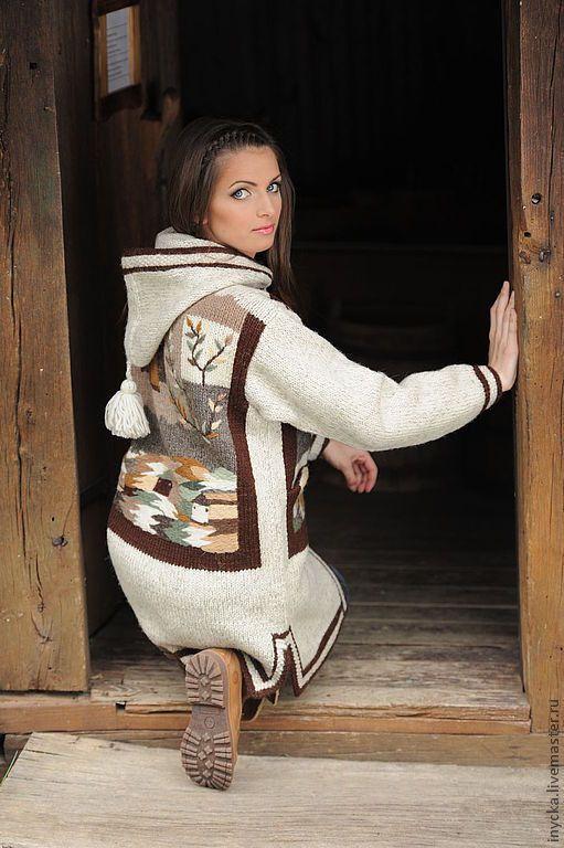 Верхняя одежда ручной работы. Ярмарка Мастеров - ручная работа Вязаное пальто W2. Handmade.