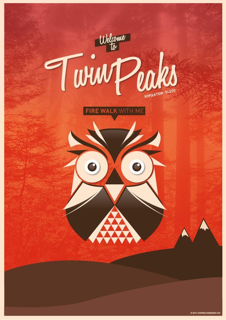 """Twin Peaks"" Poster by SPCKDSGN"