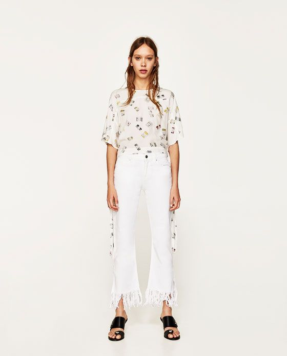 ZARA - WOMAN - PRINTED BLOUSE WITH BOW