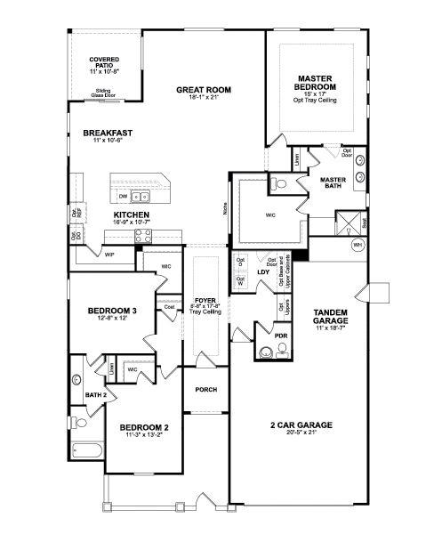 Beazer Homes Winslow Floor Plan With Option To Have Door Between Laundry  Room And Master Wic