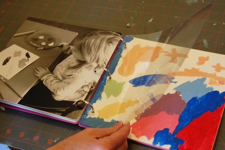What a fantastic idea! To photograph your children, or anyone, creating art and putting it into a book together!