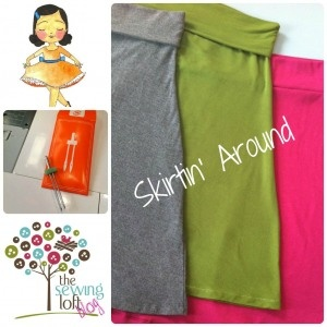 DIY Easy Knit skirt tutorial- Knock Off your Favorite Skirt