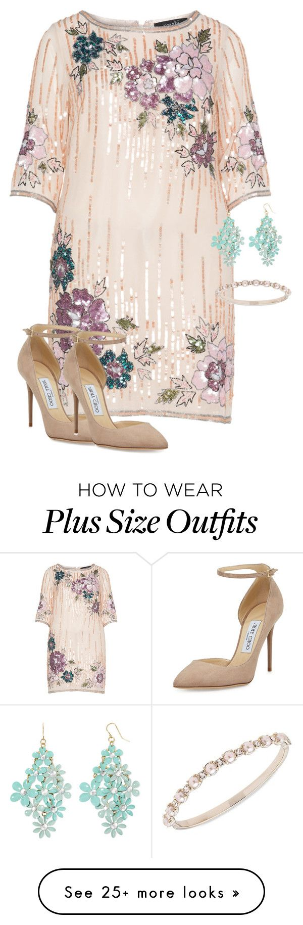"""Untitled #415"" by ealiceaoconnor on Polyvore featuring navabi, Decree, Jimmy Choo and Marchesa"