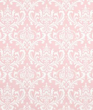 Premier Prints Ozbourne Bella Twill Fabric (Maybe pink print valance w/ white sheer panels? Could add navy ribbon to valance too?)