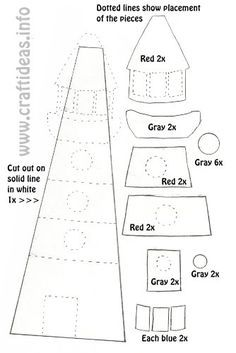 Lighthouse Template... This Gives Me The Greatest Idea For My Nautical Room!