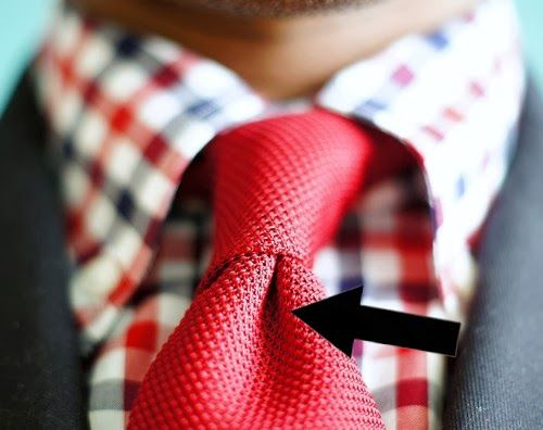 TrendHimUK: 27 Unspoken Suit Rules Every Man Should Know  Finally, go for the dimple. The dimple is the little hollow beneath the knot of your tie, and it gives a slightly disheveled yet polished appearance to your finished look