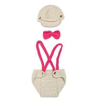 Amazon.com: Soyagift Plush Beige Knit Animal Hat Bowknot Pant Costume Set…