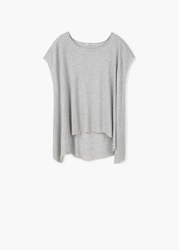 Teksturowana koszulka | MANGO