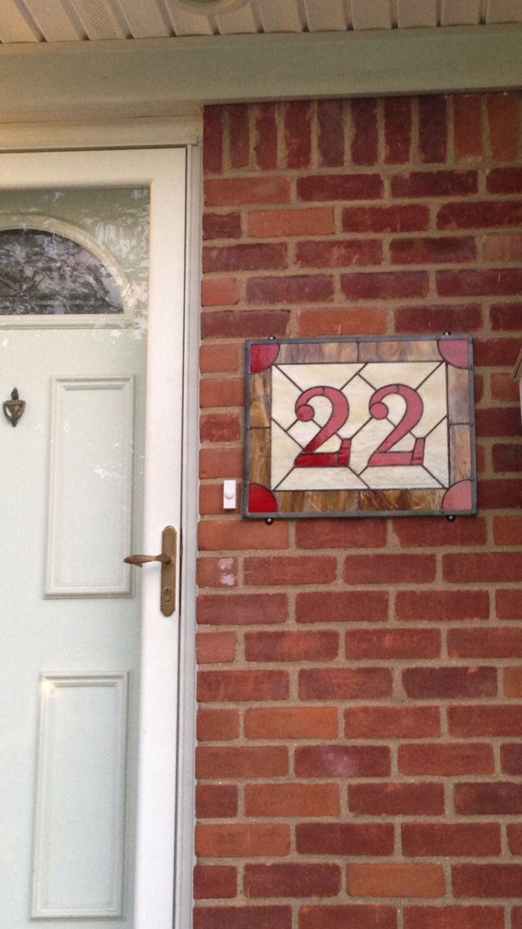 Best 25 house number plaques ideas on pinterest diy house stained glass address sign custom house numbers entryway decor home address number plaque custom stained glass panel dailygadgetfo Images