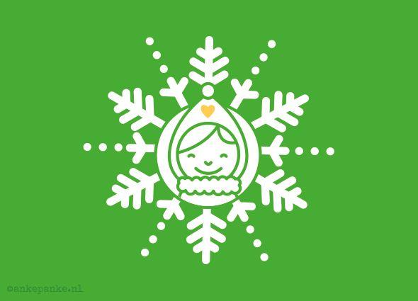 Promotional christmas card design by http://ankepanke.nl