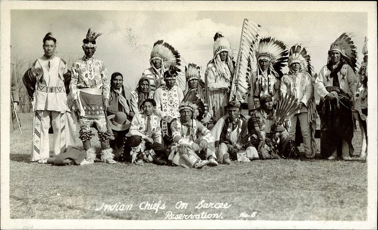 Indian Chiefs on Sarcee Reservation
