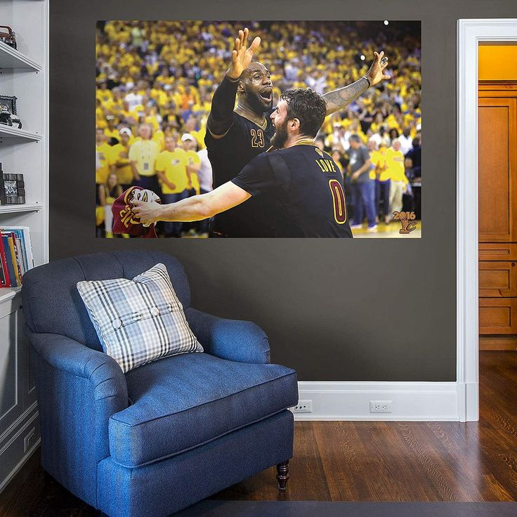 Cleveland Cavaliers LeBron James 2016 NBA Finals Celebration Wall Decal by Fathead, Multicolor