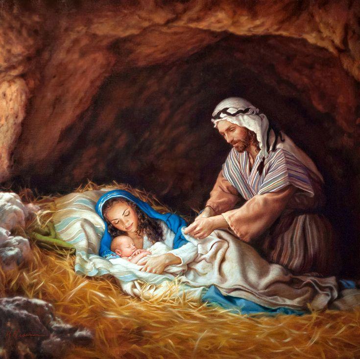 Библейские картинки рождение иисуса христа, мама сын надписями