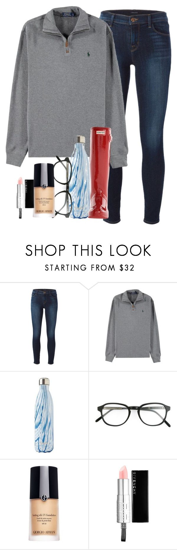 """""""'MERICA"""" by elizabethannee ❤ liked on Polyvore featuring J Brand, Polo Ralph Lauren, S'well, RetroSuperFuture, Giorgio Armani, Givenchy, Hunter, women's clothing, women's fashion and women"""
