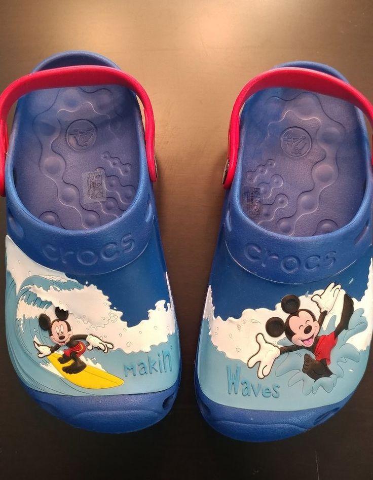Disney Boys Crocs Mickey Surfing Size J3 Crocs Crocs