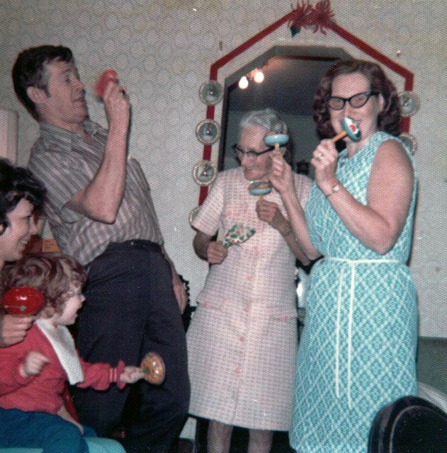 Get out those damn shaky things and shake your groove thing.  Happy New Year 1964