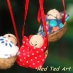 Walnut Baby Christmas Ornaments!    These are SOOOO cute!  http://www.redtedart.com/2011/12/03/kids-crafts-traditional-walnut-babies/