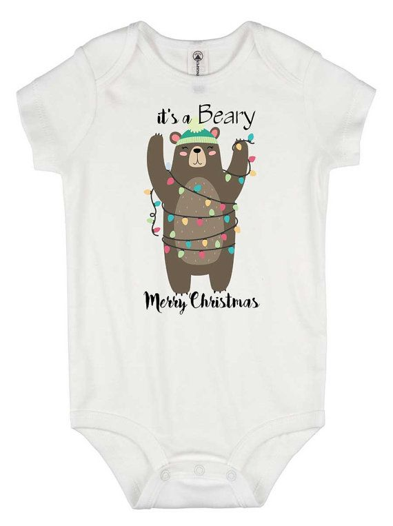 Christmas Onesie®- Beary Merry Christmas - cute Christmas onesie - christmas shower gift - baby christmas onesie - funny christmas shirt