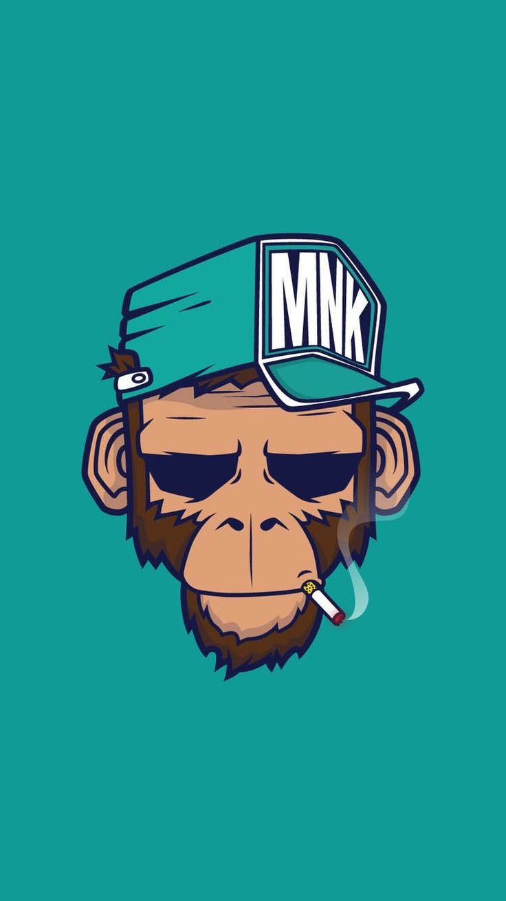 Cool Wallpaper For Iphone Monkey illustration, Best