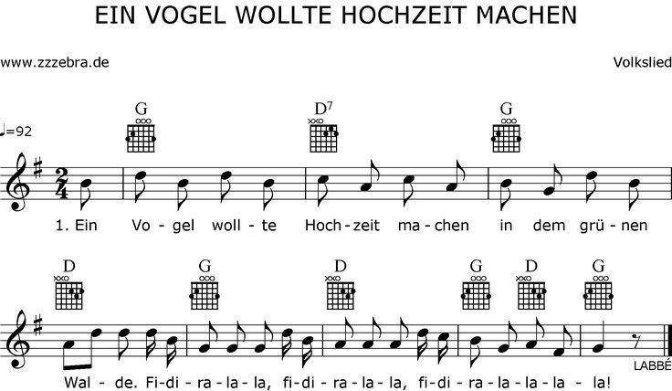 Druckansicht Ein Vogel Wollte Hochzeit Machen Liederbaum Kinderlieder Und Singspiele Labbe Verlag Kinder Lied Kinderlieder Lied