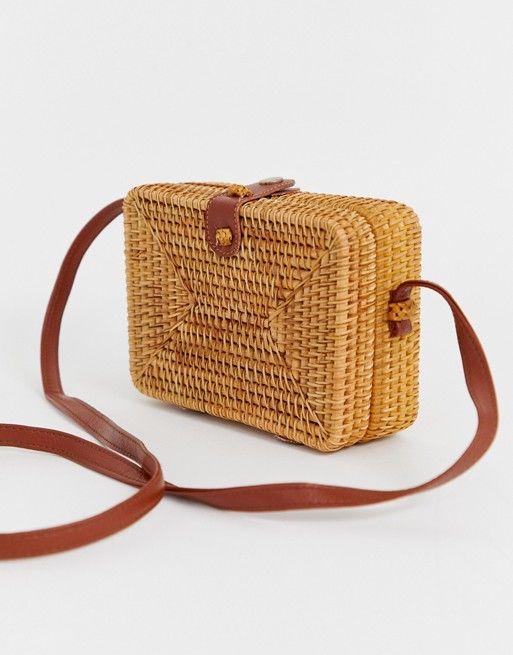 4b581cf07 ASOS DESIGN | ASOS DESIGN rattan structured square cross body bag ...