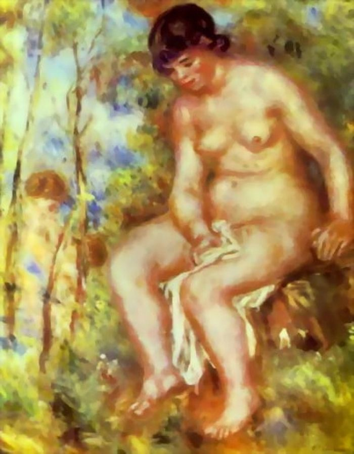 Nude Painting Pierre Auguste Renoir