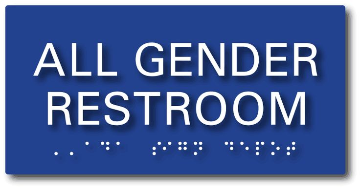 From ADA Sign Depot: All Gender Restroom Sign - ADA and California AB 1732 Compliant - Tactile (raised) Letters and Grade 2 Braille