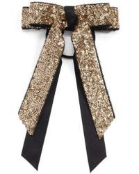 Cara | Sequin Bow Ponytail Holder | Lyst