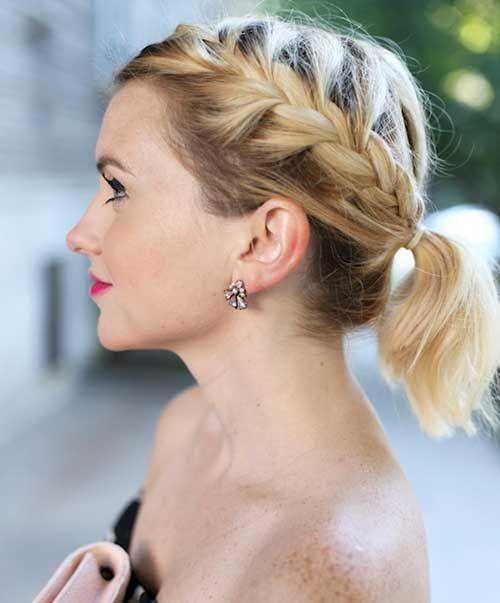 peinados elegantes cola de caballo para el pelo corto usted debe ver