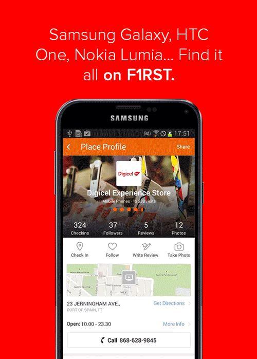 Samsung Galaxy, HTC One, Nokia Lumia… Find it all on F1RST.